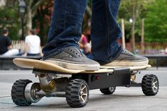 It's not really the Hover Board from back to the future, but it is a quite cool electric Z-board!