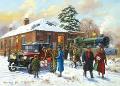 Vintage Christmas Card Nearly Home by Kevin Walsh