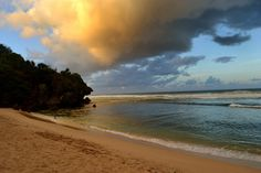 Sunrise is the best time of the day on Sundak beach. Photo by Stefanus Adjie.