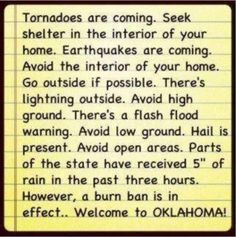 Only in Oklahoma...