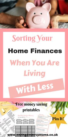 Family Life: Sorting Your Home Finances When You Are Living With Less – Finance tips, saving money, budgeting planner Financial Tips, Financial Planning, Money Tips, Money Saving Tips, Managing Money, Live On Less, Finance Quotes, Budget Planner, Saving Ideas