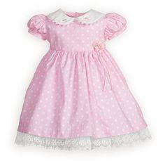 Polka Dots and Rosettes Newborn/Infant Girls' High-Waist Dress