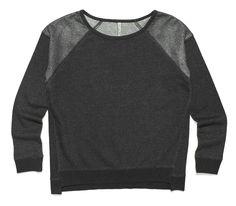 ciemno-szara bluza z połyskującymi elementami i ściągaczami