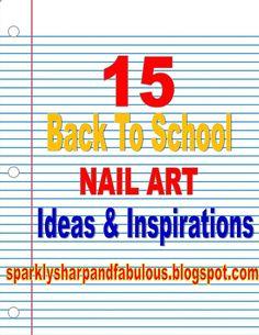 The Sparkle Queen: Back To School Nail Art Roundup School Nail Art, Back To School Nails, Posh Nails, Graduation Nails, Nail Techniques, Nail Art Videos, Winter Nail Art, Nail Tutorials, Video Tutorials