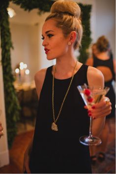 love this look for a holiday party