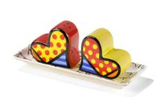Romero Britto Heart Salt and Pepper Shaker with Plate by Romero Britto. $29.00. New released in 2011 to the Romero Britto gift items, GORGEOUS salt and pepper shakers in various shapes and styles.