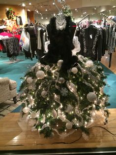 My dress form Christmas tree from Carls
