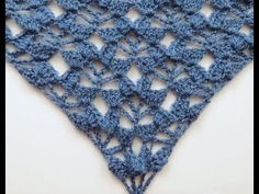 Crochet: Punto Fantasía # 24 en V - YouTube