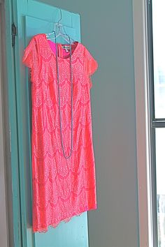 lacy pink dress // on #prettyWORTHY