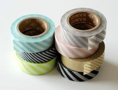 Suddenly it's everywhere: Washi masking tape! But, just look at it. How cute and must-have it is...