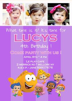Bubble Guppies Invitation by KIDINVITES on Etsy, $15.00