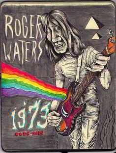 Roger Waters of Pink Floyd Rock N Roll, Metallica, Pink Floyd Merchandise, Musica Punk, Concert Rock, Pink Floyd Art, Statues, Psychedelic Music, Rock Posters