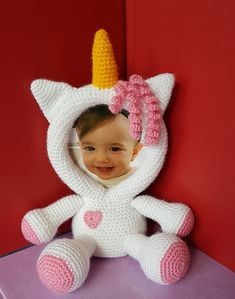 This is a crochet pattern (PDF file) NOT a finished Photo Frame you see on the photos! Crochet Unicorn, Crochet Baby, Mickey Mouse Picture Frames, Foto Frame, Picture Frame Decor, Unicorn Pictures, Baby Frame, Nursery Accessories, Sport Weight Yarn