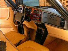 Interior of Saab 900 Convertible Commemorative Edition
