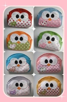 Owl pouches. One of these would be cute to go with an owl bag. :)