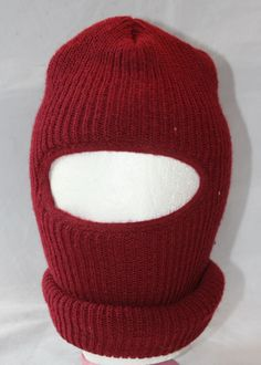 Vintage Knit Ski Mask, New with Tag, Tubby Topper, Made in USA by ilovevintagestuff on Etsy