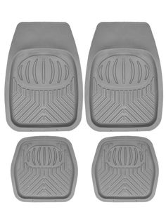 FIAT 500 Front /& Rear 2008 ON Universal Car Carpet Floor Mats White Trim Set Of 4