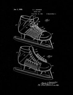 21dbe595aa7f4 83 Best Hockey Patent Prints images in 2019 | Patent prints, Poster ...