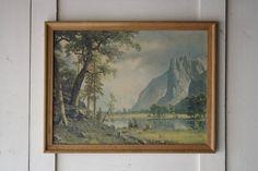 vintage landscape lithograph by littlebyrdvintage on Etsy