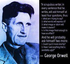 Writing advice from George Orwell Writing Advice, Writing Services, Writing A Book, Writing Prompts, Writing Corner, Persuasive Writing, Writing Resources, Writing Ideas, Essay Writing