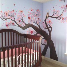 My daughter's cherry tree mural by Eric Hinote.