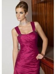 Taffeta Softly Curved Neckline Ruched Bodice Footer-length Occasions Dress