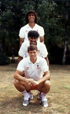 Ruud Gullit, Frank Rijkaard e Marco Van Basten
