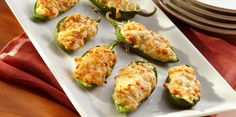 Stuff some jalapeño chili peppers with a blend of Sargento® Traditional Cut Shredded Pepper Jack Cheese, breadcrumbs, bell peppers and egg and watch as they bake to golden perfection. These zesty appetizers are perfect for any occasion and are might tasty!
