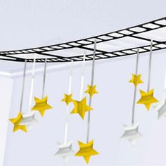"""$9.40  12'x 12"""" - Hollywood Theme Film and Stars Garland Ceiling Decoration from Windy City Novelties"""