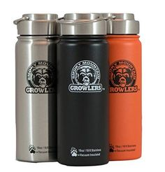 Smoky Mountain Growlers Insulated Stainless Steel Allinone 18 oz Water Bottle Thermos and Wine or Beer Growler *** Want to know more, click on the image.Note:It is affiliate link to Amazon.