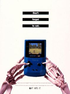 """suppermariobroth: """"Print ad for the Nintendo Game Boy Color, featuring Mario Golf. """""""
