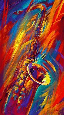 Swing Time by Simon Bull saxophone Music Painting, Art Music, Time Painting, Pop Art, Jazz Art, Black Art, Amazing Art, Musicals, Abstract Art