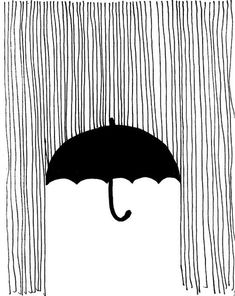 a drawing idea.rain umbrella