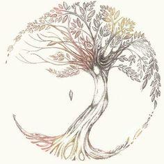 Dessin de tatouage Arbre de vie pas de soleil ni de lune Tree of Life Tattoo Life, 1 Tattoo, Roots Tattoo, Sketch Tattoo, Tattoo Thigh, Tree Of Life Tattoos, Tattoo Small, Oak Tree Tattoo, Tree Tattoo With Roots