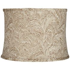Honduras Wave Taupe Fabric Drum Lamp Shade 13X14x10 (Spider) #Springcrest #Traditional