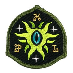 This Eye Of Shoggoth patch features the Great Old One in a military-style shield design with Victorian aesthetic influences. W x H available with iron-on or hook-and-loop backing Cool Patches, Pin And Patches, Mens Silver Jewelry, Alien Abduction, Military Fashion, Military Style, Shield Design, Aliens And Ufos, Mothman