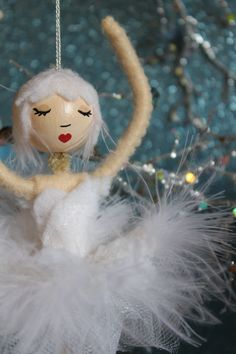 Ballerina Ornament  Odette from Swan Lake by bzlittlechristmaself