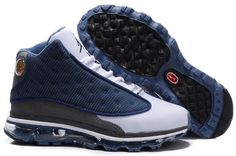 Air Jordan 13 Air Max Fusion Men Shoes Navy Grey White