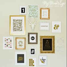 Gallery Wall Prints formal living & dining room gallery wall art print roundup. lots