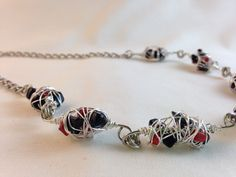 Wire Wrap Gemstone Necklace Handmade by CraftedByJulieMarie