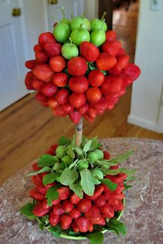 Strawberry Topiary for chocolate fountain display