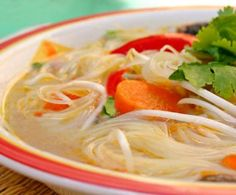 17 Popular and Delightful Thai Soups to Try: Thai Coconut Chicken Noodle Soup