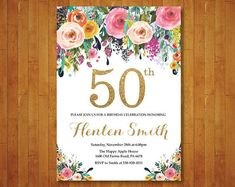 Invitacion De Cumpleanos 60 Anos Mujer