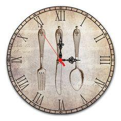 Relógio de Parede - Talheres Vintage
