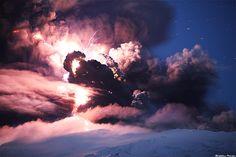 Evil Forces, Eyjafjallajökull Erupting Volcano - Iceland by skarpi - www.skarpi.is, via Flickr