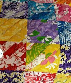 Hawaiian Print Block Quilt  - SPECIAL ORDER QUILT