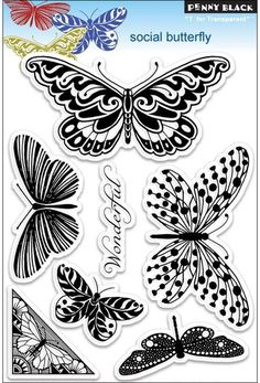Social Butterfly - Clear Stamps