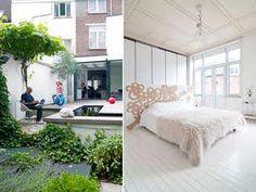 Pent og personlig i kult rekkehus - Skreddersydd rekkehus - Bo-Bedre. Outdoor Furniture, Outdoor Decor, Bed, House, Home Decor, Modern, Homemade Home Decor, Stream Bed, Home