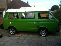VW Camper. Looks like my Baby! Same color, different wheels.