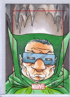 Mole Man - Marvel Anniversary Sketch Card by Tony Fleecs Comic Book Characters, Comic Books, Mole Man, Green Goblin, 70th Anniversary, Classic Comics, Fantastic Four, Grimm